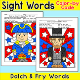 Presidents' Day Color by Sight Word: George Washington, Ab