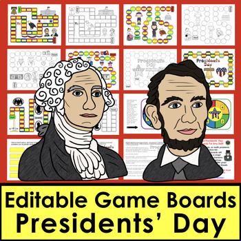 Presidents' Day Activities: Sight Word Games for First 106 Dolch Words