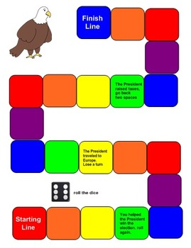President's Day Smartboard Board Game