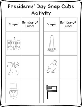 President's Day Snap Cube Activity {FREEBIE}