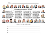 Presidents Day Social Studies History Read Comprehension Write Color Activity 3p