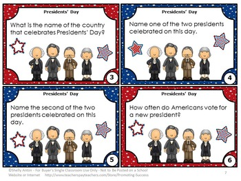 US Presidents Day Activities, 2nd Grade Social Studies Centers SCOOT Games