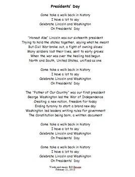 Presidents' Day Song