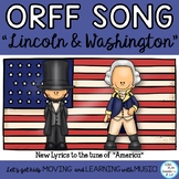 "President's Day Orff Song, Lesson and Game: ""Lincoln and Washington"""
