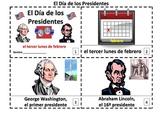 Presidents' Day Spanish Emergent Reader Booklets - El Dia de los Presidentes