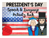 President's Day Speech & Language Packet