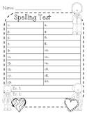 President's Day Spelling Test Paper 20 word