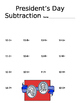 Presidents' Day Subtraction