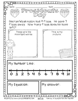President's Day Subtraction Story Problems {Differentiated}