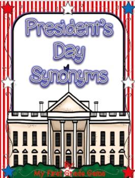 President's Day Synonym Match