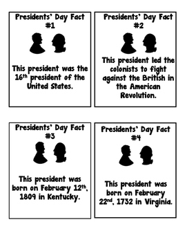 Presidents' Day Task Card Activity!
