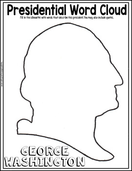 Presidents' Day Teen Coloring Page and Word Cloud Activity {FREE!}