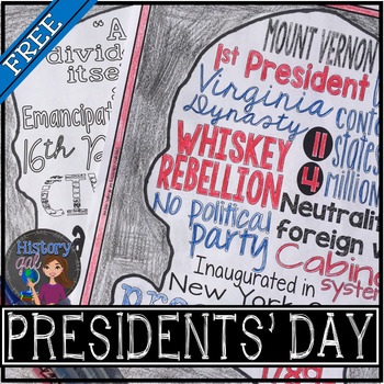 Presidents' Day Coloring Page and Word Cloud Activity {FREE!}