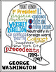 Presidents' Day Teen Coloring Page and Word Cloud Activity