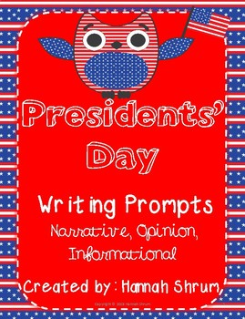 Presidents' Day Text-Based Writing Prompts