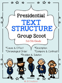 President's Day Text Structure Group Scoot Game (3rd, 4th, 5th grade)