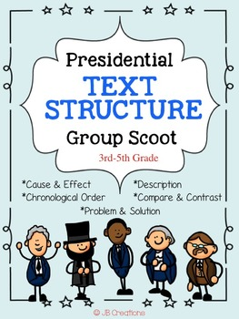 President's Day Text Structure Group Scoot Game (3rd, 4th,