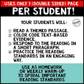 February Reading Homework for 4th & 5th PAPER SAVING President Themed