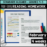 Paper-Saving Reading Homework for 4th & 5th - 4 weeks Pres