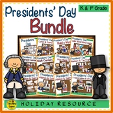 Presidents' Day Themed Literacy & Math Bundle