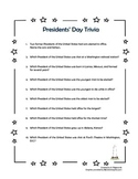 Presidents' Day Trivia - FREE!