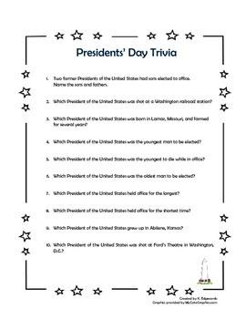 Presidents' Day Trivia - FREE!