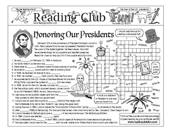 Presidents' Day and Abraham Lincoln Two-Page Activity Set