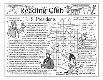 Presidents Day Two-Page Activity Set
