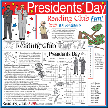 Learn About the U.S. Presidents Two-Page Activity Set