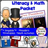 Presidents' Day Packet! Washington and Lincoln Literacy & Math Activities