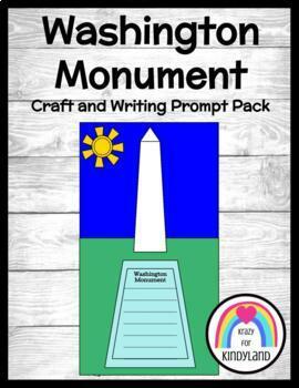 Washington Monument Craft and Writing (Presidents' Day / US Symbols)