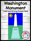 Washington Monument Craft & Writing for K (Presidents, US Symbols, Election)