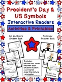 President's Day & US Symbols Interactive Readers: Activities and Printables