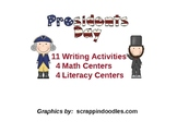 President's Day & U.S. Symbols - Math and Literacy Centers