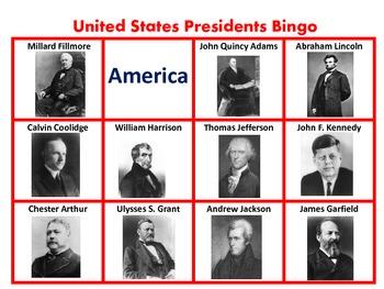 President's Day/ U.S.Presidents Bingo