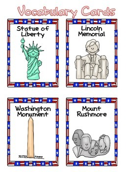 President's Day and American Symbols Unit