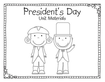 President's Day Unit Materials 2
