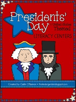 Presidents' Day {& United States Themed} Literacy Centers