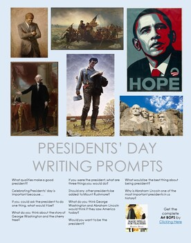 Presidents' Day - Using Famous Paintings to Write About Presidents - FREE