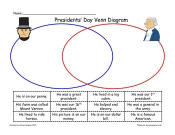 Day venn diagram residential electrical symbols presidents day venn diagram with lincoln and washington by arlene rh teacherspayteachers com day night venn ccuart