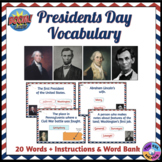 Presidents Day Vocabulary Boom Cards™ (Distance Learning)