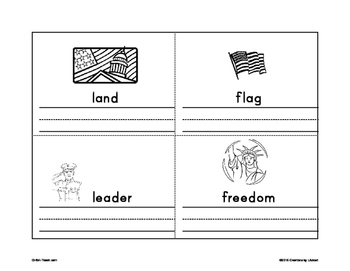 Presidents Day Vocabulary Mini-Book