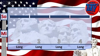 Presidents' Day Voice Warm-Up - 6 Levels - rhythm/solfege - PDF/PPT - Bellringer