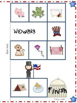 Presidents' Day Vowel Game