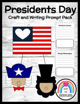 Presidents' Day: Washington and Lincoln Flag Craft and Writing