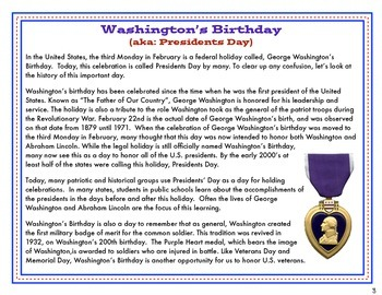 Presidents Day / Washington's Birthday Mini Unit