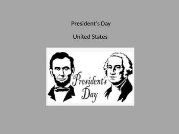 President's Day Washington's Birthday - Power Point History Facts Information