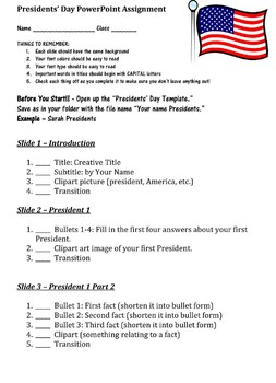 Presidents' Day Web Quest and PowerPoint - 3rd-4th Grade