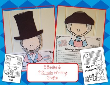 President's Day With George and Abe! 2 Writing Crafts & Mini Books