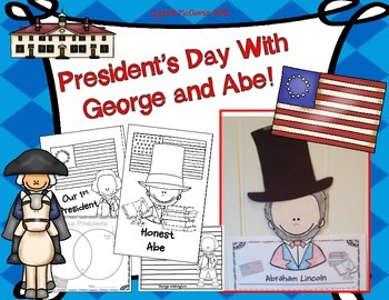 President's Day With George and Abe! 2 Writing Crafts & Mi